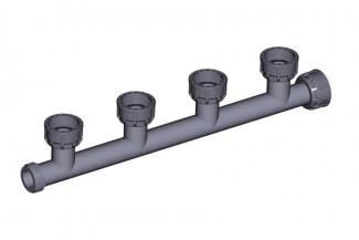 "TORO DURA TE ENLACE 4 SALIDAS PVC 1"" H-M M301-010-4"