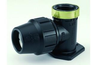 Codo Placa P.E. de 25-3/4mm en PPFV
