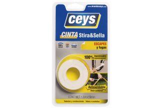 CEYS STIRA & SELLA 3M X 19MM (BLANCO)